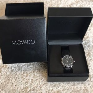 MOVADO HERITAGE SERIES CALENDOPLAN BLACK WATCH 38